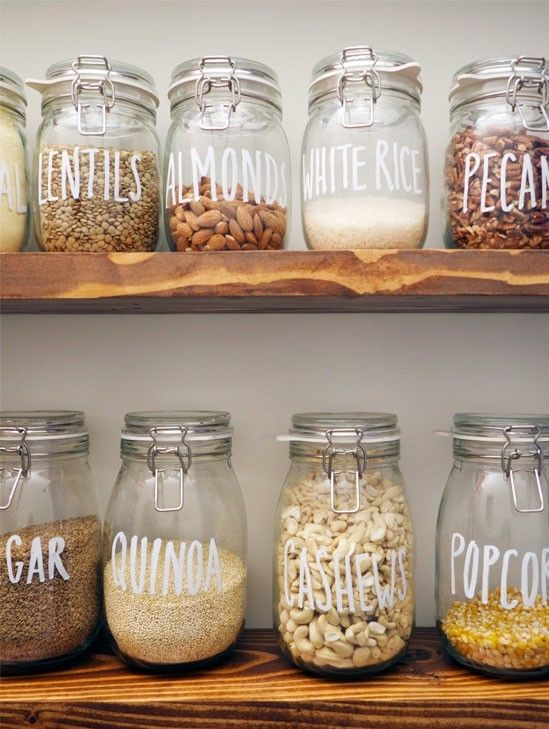 I love that you can see how much you have, that the jars are uniform, and that everything is clearly labeled.