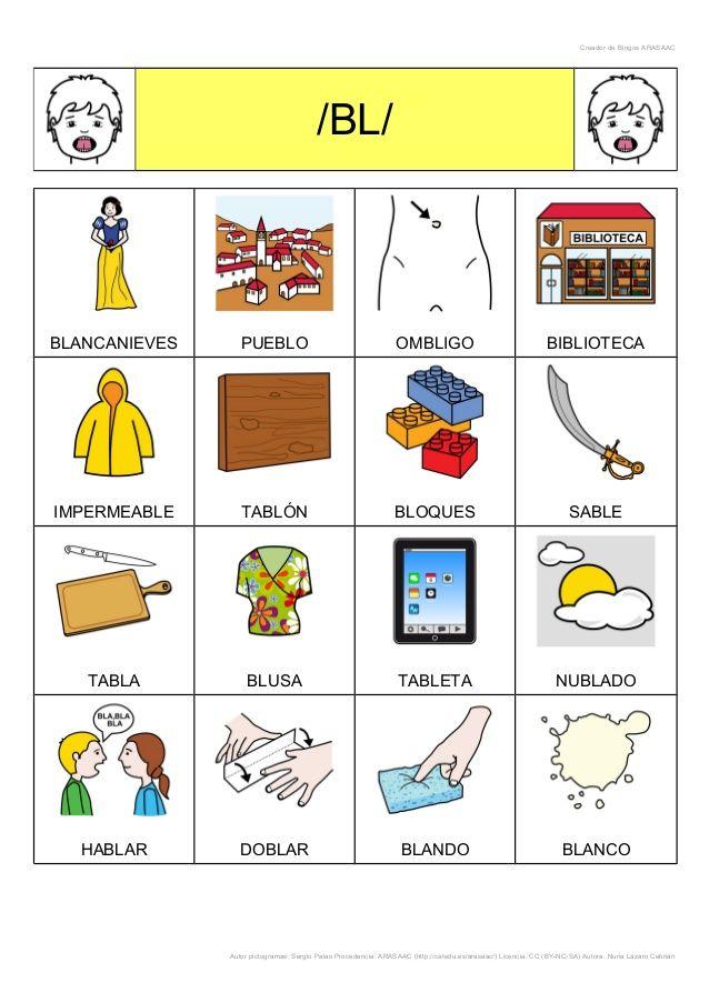 Creador de Bingos ARASAAC /BL/ BLANCANIEVES PUEBLO OMBLIGO BIBLIOTECA IMPERMEABLE TABLÓN BLOQUES SABLE TABLA BLUSA TABLETA...