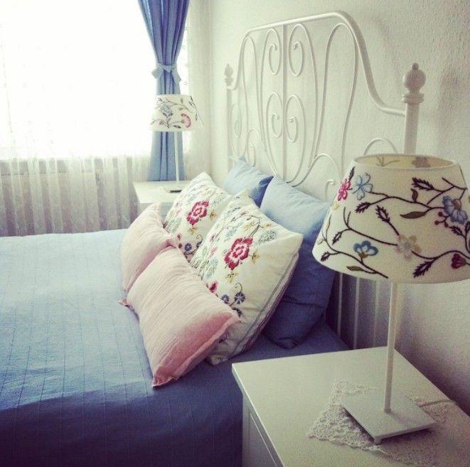 Yatak Odası, Aydınlatma, Pembe, Mavi, Beyaz
