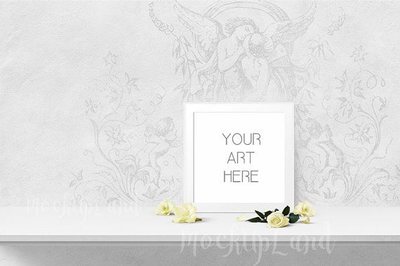 OUTSTANDING Mock up 8 x 8 inch / 16 x 16 inch | Styled Mock Up | Elegant Art | Any Room Art | kids room | nursery art mock up