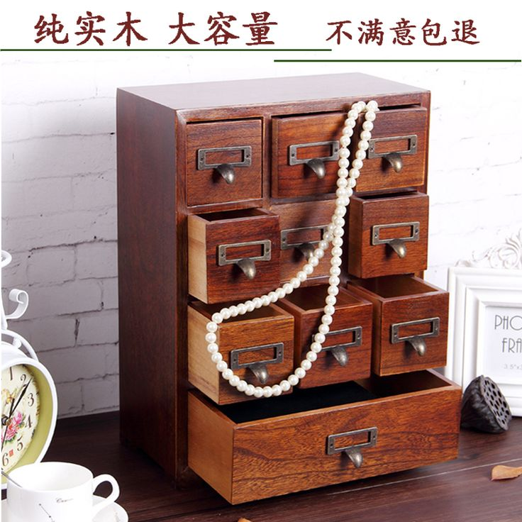 Storage Box Quality Cosmetic Directly From China Wooden Suppliers Jewelry Wood Desktop Drawer Type Wenwan