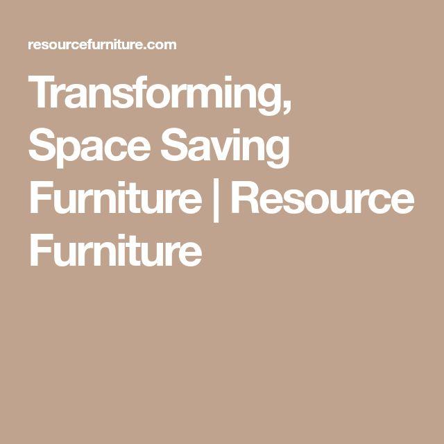 Transforming, Space Saving Furniture | Resource Furniture