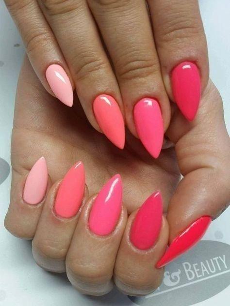 Süße Pastellfarben Ombre Nail Art für den schönen Winter 01 #ombrenails -…   – Nägel