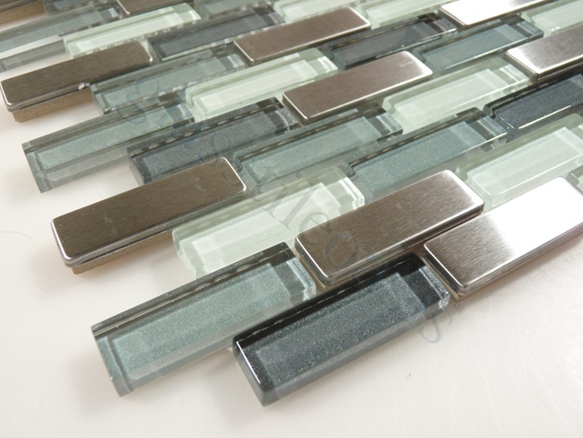 Glass And Stainless Backsplash Glass Tile Oasis For Kitchen