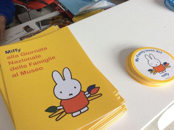 in museo aspettano Miffy con i suoi materiali di Famiglie al Museo