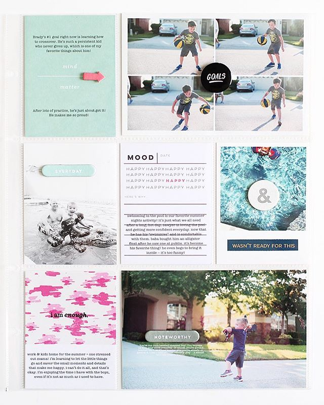 """On the blog: Kelly Noel shows how she used the Story Board documenter kit to make this layout. 😍 """"I created a finished look by adding the chipboard right to the outside of the page protector. I like to add any thicker embellishments to the outside of the page protector, so that the pockets don't get wrinkled or bulge."""" - @kellynoel  Check out the blog at StudioCalico.com > Be Inspired > Blog  #scstoryboard #studiocalico #scrapbooking #memorykeeping"""