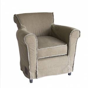 Fauteuil vintage Wil licht bruin  www.gigameubel.nl