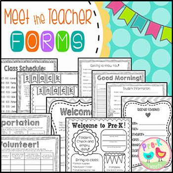 Meet the teacher forms, sign in sheets, welcome notes, student information cards and much more! Pages have doodle borders and a light grey chevron border for easy printing. You will also receive five pages of tips, photos, and resource ideas AND step by step posters! Text is editable on forms and posters and can be used for any grade level.