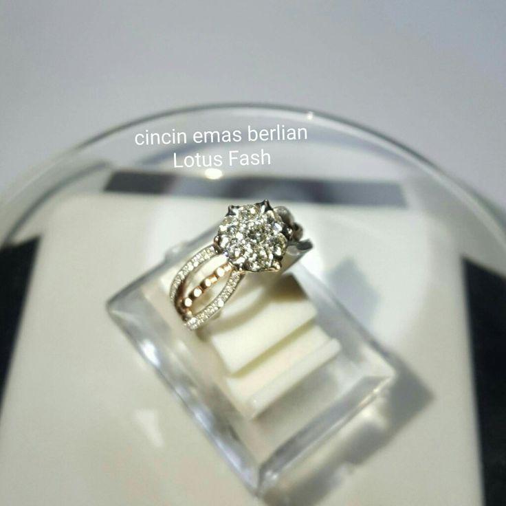 New Arrival🗼. Cincin Emas Berlian Lotus Fash💍💎.   🏪Toko Perhiasan Emas Berlian-Ammad 📲+6282113309088/5C50359F Cp.Dewi👩.  https://m.facebook.com/home.php  #investasi #diomond #gold #beauty #fashion #elegant #musthave #tokoperhiasanemasberlian