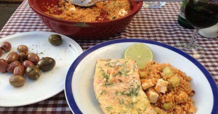 Temis Rezept für Gegrillten Lachs passt perfekt zu Couscous Salat. Das Beste: das Gericht lässt sich super easy zubereiten.