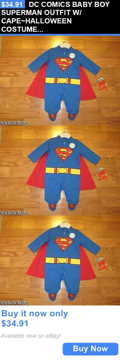 Kids Costumes: Dc Comics Baby Boy Superman Outfit W/ Cape~Halloween Costume~Newborn~0-3 M~Nwt BUY IT NOW ONLY: $34.91