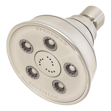 Showerhead with 5 adjustable jets and 50 full-body sprays. Includes 12 center massage jets and a 360-degree spray adjusting faceplate.   P...