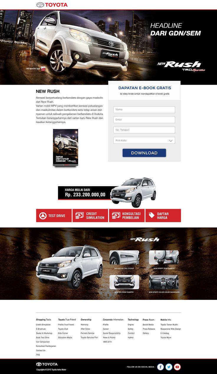 Toyota Rush Landing Page