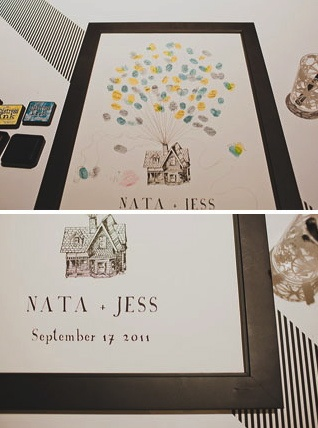 Up! themed Guest Book