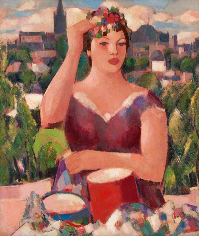 Spring in Glasgow by John Duncan Fergusson, c1942, Hunterian Art Gallery, University of Glasgow