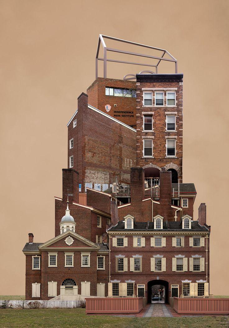 Беомсик Вон разбивает на части десятки фотографий городской архитектуры, а затем воссоединяет их в сюрреалистичных коллажах.