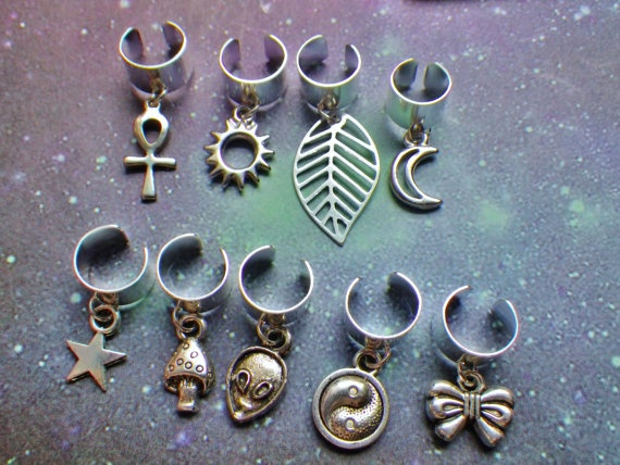 Dread bead Ear cuff with charm by lotusfairy on Etsy, $5.00 :: Shop DreadStop.Com for Leather Dreadlock Cuffs, Ties & Dread Beads #dreadstop