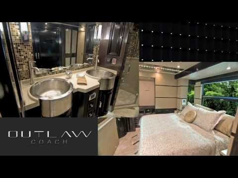 MSRP $1.75 MILLION. CLICK TO VIEW INVENTORY  http://www.mhsrv.com/rv-glossary/luxury-rvs/ http://www.mhsrv.com/inventory.asp Motor Home Specialist is the exclusive Outlaw Luxury Prevost dealer in the world. 800-335-6054 - This is not your normal RV walk around. Watch this extensive product demonstration to learn more about this Prevost H3-45 Lux...