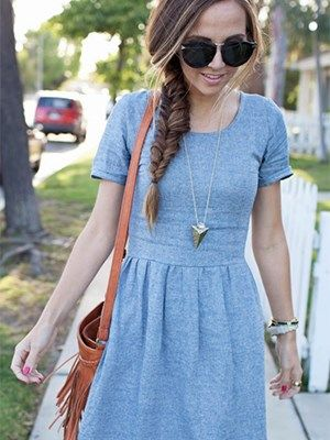 The Perfect Chambray Dress Sewing Tutorial Created By: Merrick White