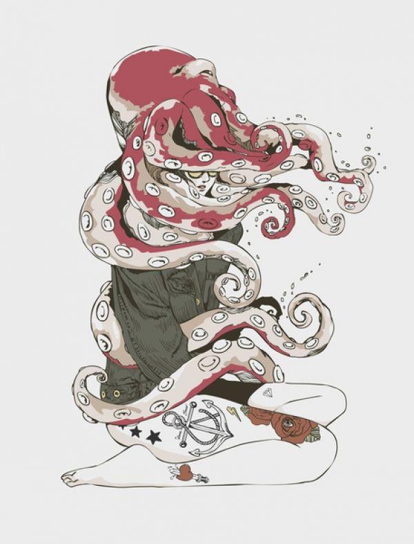 My Head is an Octopus  by  Chalermphol Harnchakkham