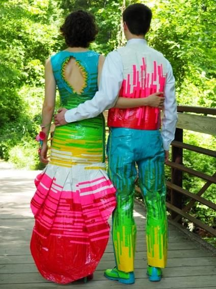 Teen Couple's Duct Tape Prom Outfits Win $20,000