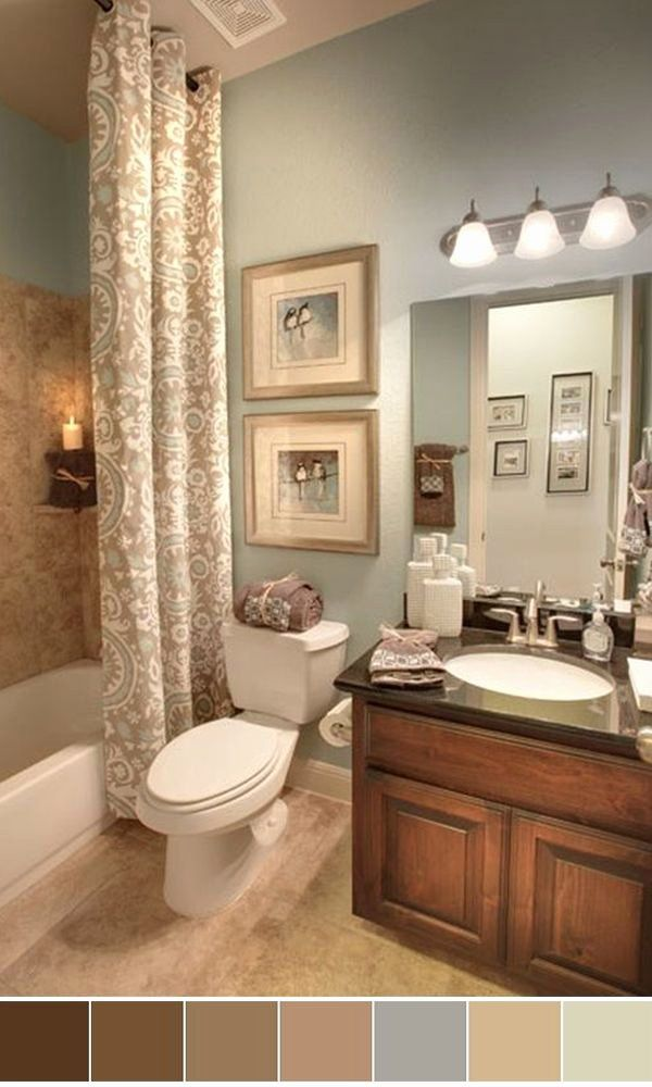 Brown And Teal Bathroom Ideas New 25 Beautiful Bathroom Color Scheme Ideas For Small In 2020 Bathroom Color Schemes Apartment Bathroom Design Small Apartment Bathroom