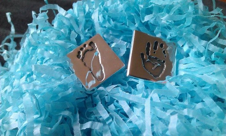 Hand and Foot Square Cufflinks for a special Fathers Day gift.