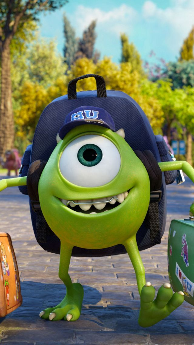 Mike Wazowski Monsters University iPhone 5 Wallpaper