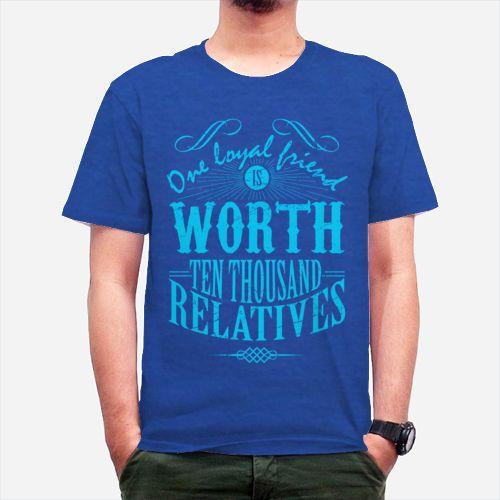 friends blue,tees, kawan, teman, typography, blue, gildan, biru, kaos, tshirt,