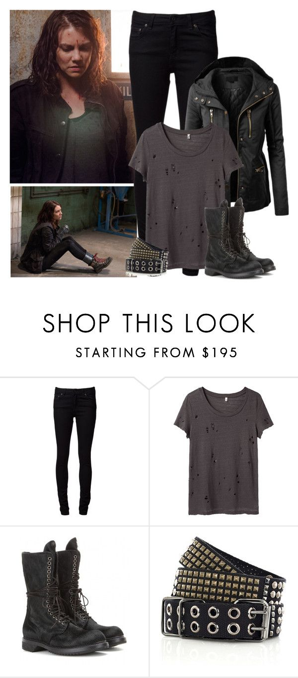 The Walking Dead - style by bebe6121985 on Polyvore featuring R13, Naked & Famous, Rick Owens, Balmain and LE3NO