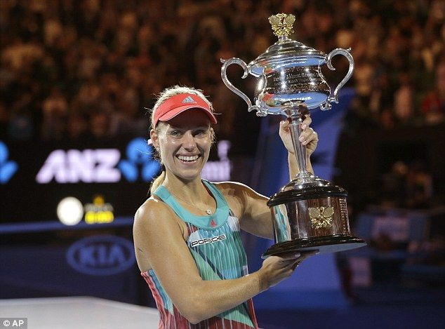 Her tense match against Williams at the Rod Laver Arena was the German's first Grand Slam final