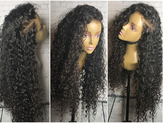Natural Looking Malaysian Lace Front Wig Human Hair Tight Curly Full Lace Front Wigs With Bleached Knots Baby Hair
