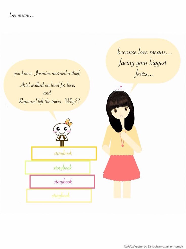 Cute Doodles — Love means… Facing your biggest fear (^▽^)   ...