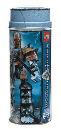 LEGO Knights Kingdom Karzon by LEGO. $24.95. Swing the spiked flail. NEW Collectable Karzon metal can. With his Rogue iron armor and swinging-action spiked flail, he's a match for any knight. From the Manufacturer                Karzon is the sneaky Rogue Knight of the Snake, and a master of weapons and deadly traps. This cunning warrior knows every trick in the book, and he's not afraid to use them to win.                                    Product Description      ...