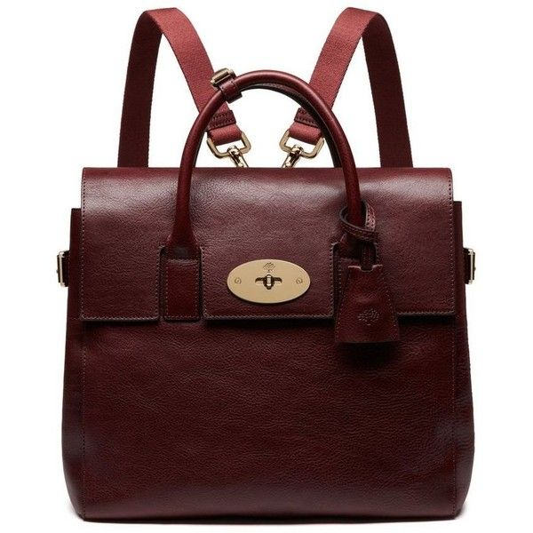 Mulberry Cara Delevingne Bag (£995) ❤ liked on Polyvore featuring bags, backpacks, handbags, purses, initial bags, knapsack bags, red bag, tattoo bag and mulberry bag