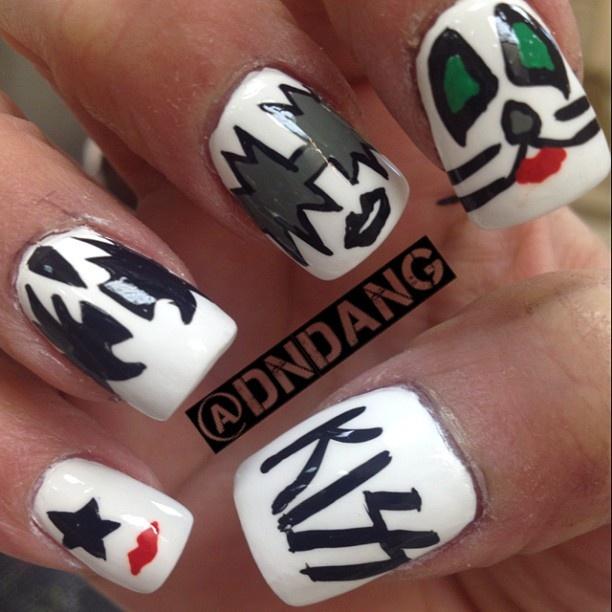 Nail designs kiss beautify themselves with sweet nails kiss nail nails nailart music themed nails pinterest nail art prinsesfo Image collections