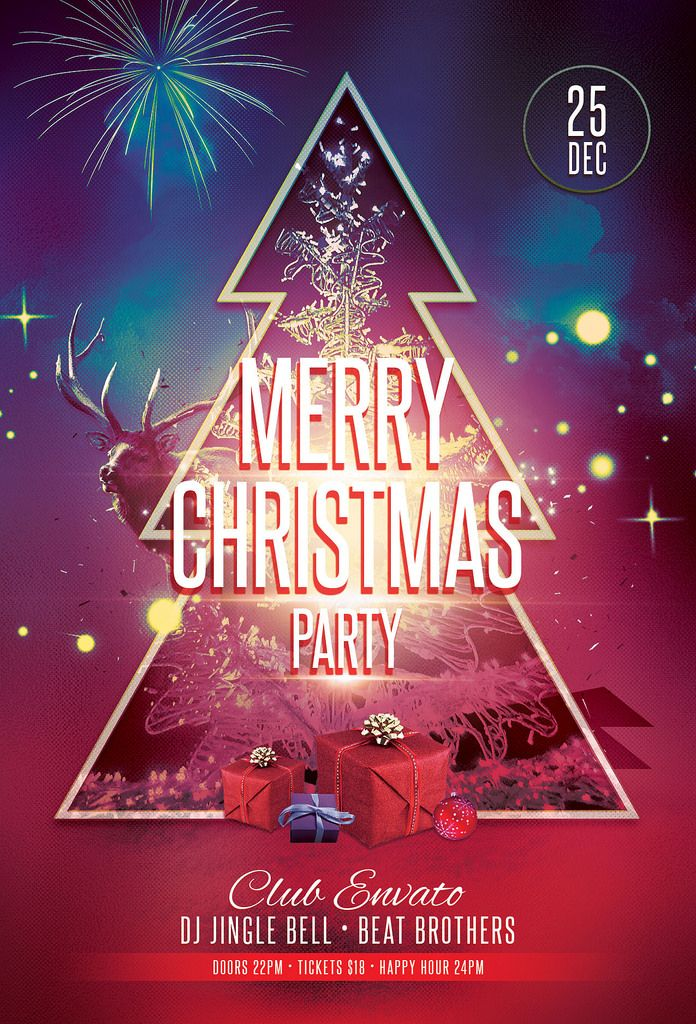 47 best Graphic Design images on Pinterest Christmas flyer - christmas party tickets templates