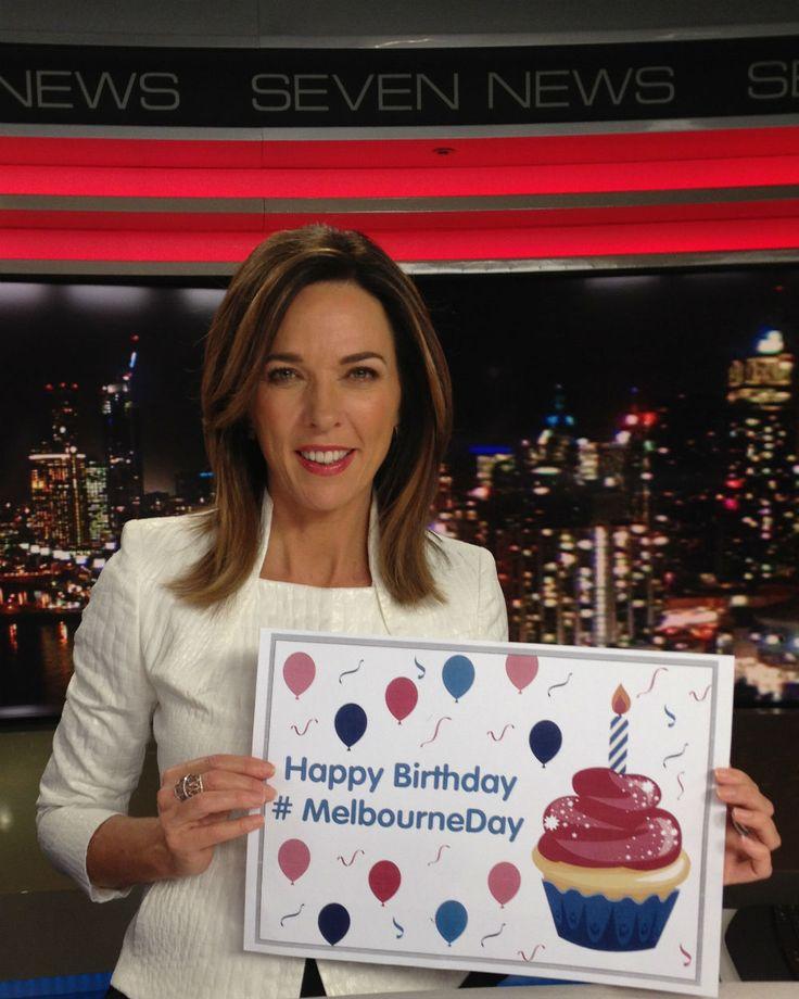 Seven News presenter Jennifer Keyte. #MelbourneDay