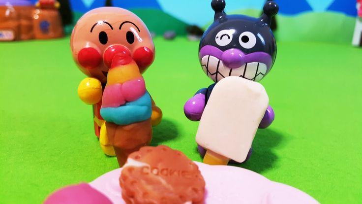 アンパンマンおもちゃアニメ❤ねんど遊び!おかしをねんどで作ってみた!おかあさんといっしょ♦ Anpanman anime toys