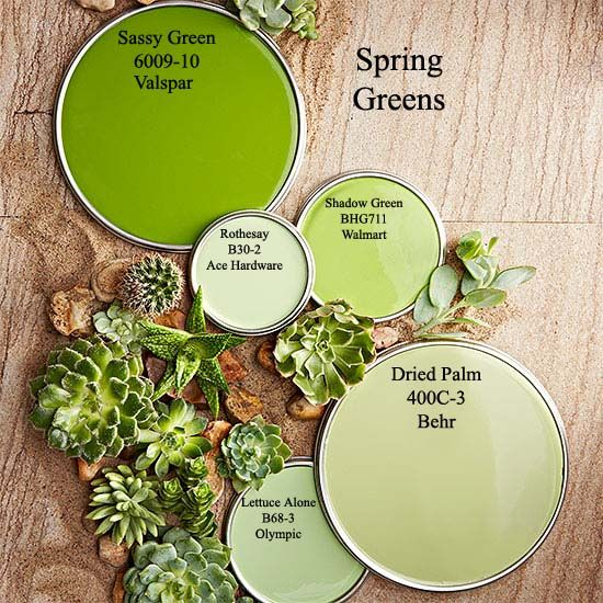 Spring Green paint colors via BHG.com