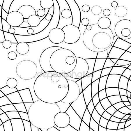 Daire Dekoratif-süsleme elementler siyah ve wh ile sayfa kitap boyama — Stok fotoğraf #116047688