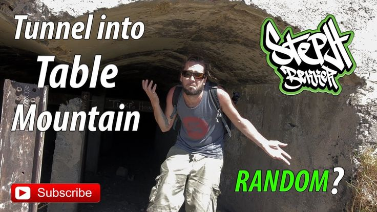 Exploring an abandoned quarry, Table Mountain