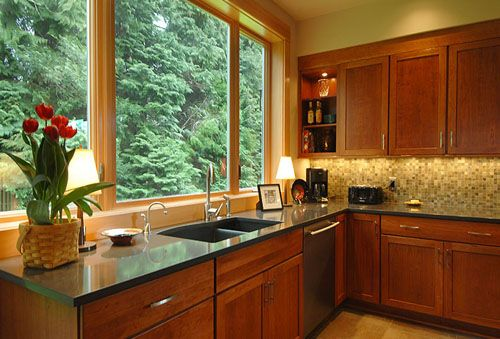 Green Colored Kitchen Countertops : I like this quartz countertop caesarstone soft black