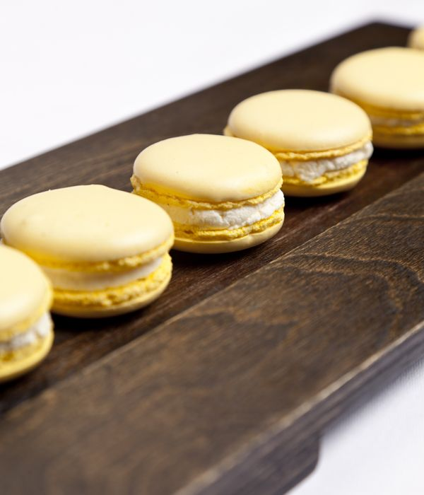 This mustard macaroon recipe from Simon Gueller may sound slightly peculiar, but the combination of crisp, sweet meringue, hot mustard powder and creamy cauliflower purée works magically.