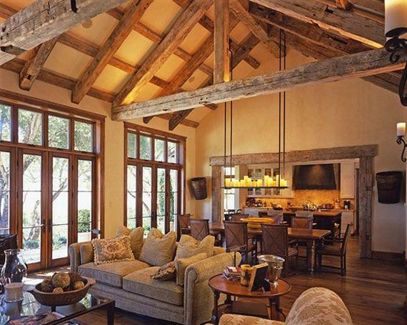 Log cabin interior design 47 cabin decor ideas mountain for Decorate log cabin interior