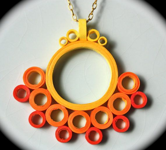 Rings of Fire Necklace. $13.00, via Etsy.