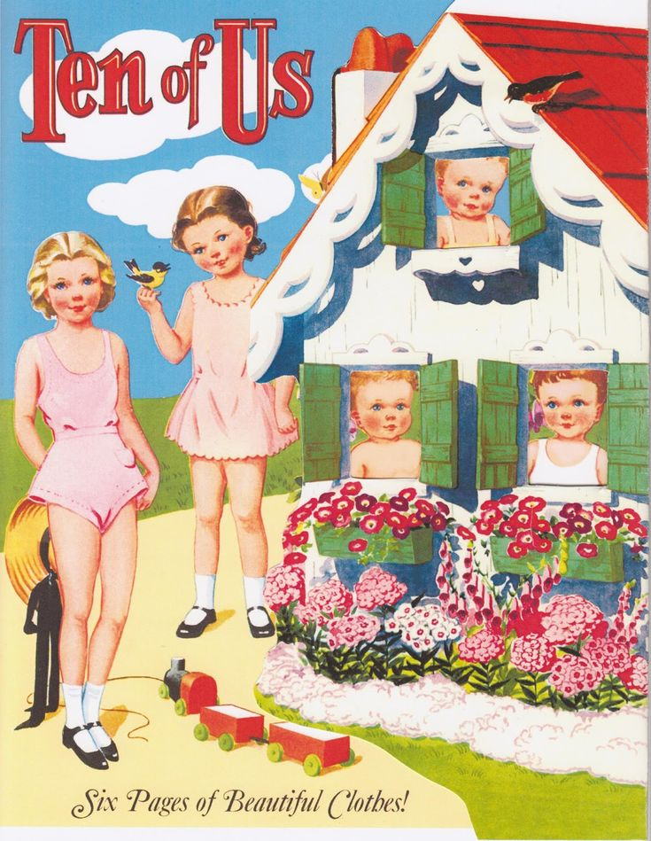 Tutoriales y DIYs: Libro de muñecas de papel Ten of Us