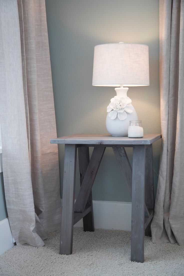 "As seen on HGTV's ""Fixer Upper,"" Thursdays 11/10c--> http://hg.tv/10wdg: Side Tables, Cabin Ideas, House Ideas, Dream, Simple, Cool Lamps, Master Bedroom, Bedside Table Lamps, Bedroom Ideas"
