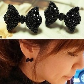 Discount China china wholesale Lovely Full Drills Bowknot Cute Earrings 6484 [6484] - US$0.99 : Bluelans: Studs, Fashion, Bowtie, Bow Ties, Stud Earrings, Bows, Bow Earrings, Black Rhinestone