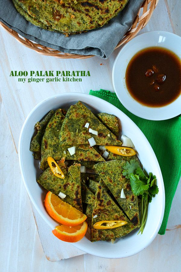 NEW: Aloo 'Palak Paratha' - 'Potato Stuffed Spinach Flatbread' is simply delish, quick and easy recipe. A true inspiration for your favorite Breakfast meal! This Paratha is breathtakingly green, and packed full of healthy ingredients!!!  #indianfood #paratha #dal #spinach #palak #meal #foodie #vegan #breakfast #vegetarian #whateganseat #recipe #delicious #spicy #foodstyle #foodphotography #healthyeat #cleaneating #plantbased #flatbread #foodanddrink